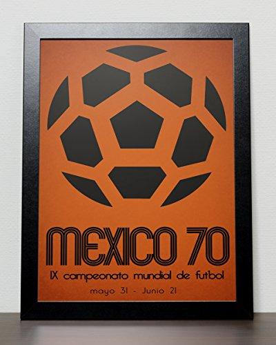 World Cup Fussball ball Poster Mexico 70