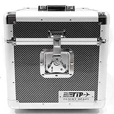 "Total Impact TIP LP100 12"" Vinyl Record Storage Carry Case Box Carbon"