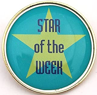 étoile de la semaine badge à épingle avec Livraison gratuite: Lot de 5