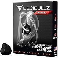 Decibullz Custom Molded Security Radio Surveillance Earpiece Set, Thermo-Fit Designed for Clear Acoustic Tube Radios, +Isolation