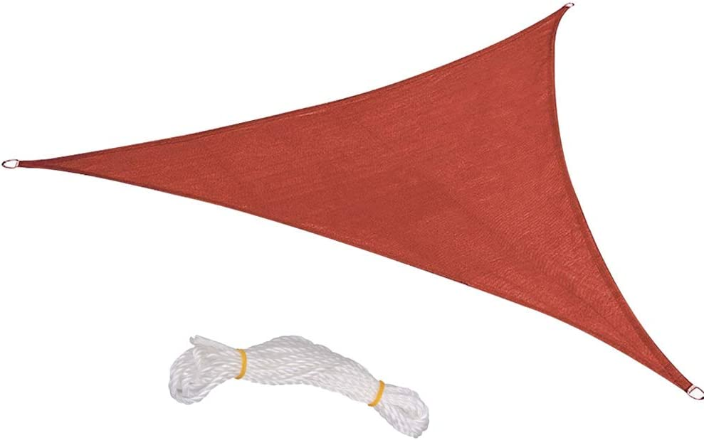 BELUPAI Triangle Sun Shade Sail 8ft Fixed price for sale Inexpensive Cloth Oxford Polyester