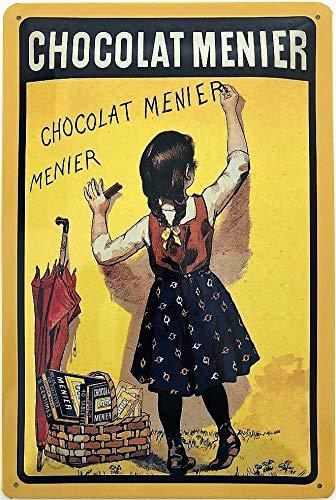 Deko7 Tin Sign 30 x 20 cm Chocolade Menier Vintage Advertentie