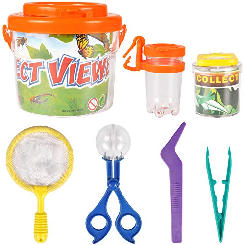 Liberty Imports Little Backyard Explorer Outdoor Toy Insect Adventure Set - Bug Catcher Viewing Collection Kit (7 Pieces)