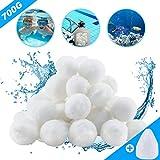 Aitsite 700g 8 Litro Filtro Balls Pool Filtraggio Sand Filter 25 kg Filtro Sabbia Sabbia d...