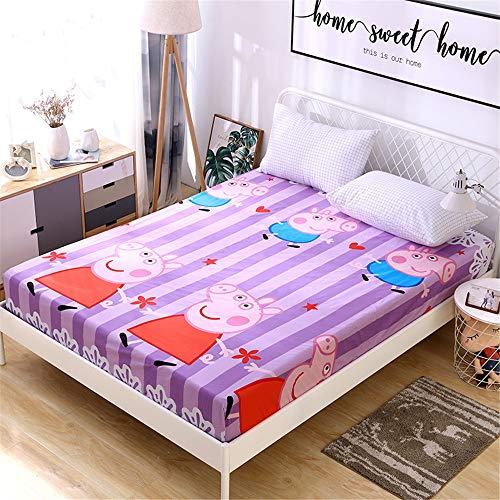 huyiming Einzelstück Baumwolle Kinder Cartoon 1,2 m Anti-Rutsch-Bett Trampolin Abdeckung Baumwolle 1,5 m 1,8 dünne Matte Schutzhülle 88X168 + 15