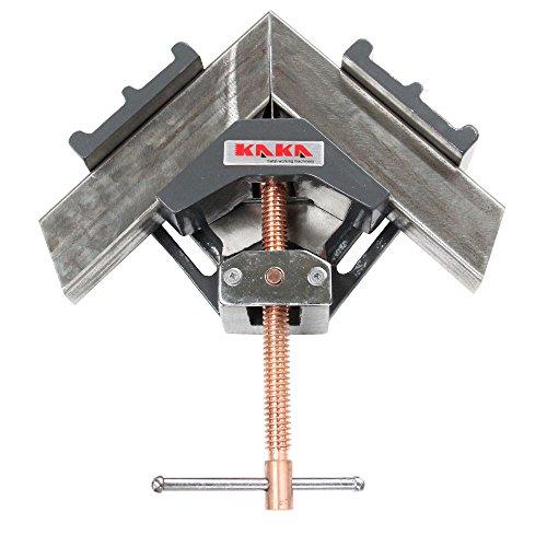 KAKA AC-100 Angle Clamp, Solid Construction, 90 Degree Welding Angle Clamp, Heavy-Duty Cast-Iron Angle Clamp Vice