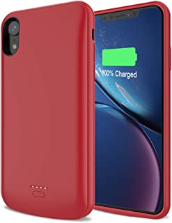 LCLEBM Battery Case for iPhone X/XS 4000 mAh Portable Protective Charger Case(New Upgraded) Extended Rechargeable Battery Pack Slim Charging Case Compatible with iPhone X/XS/10 (Red)
