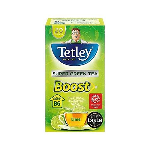 Tetley Super Grüner Tee Boost-Kalk 20 Pro Packung - Packung mit 4