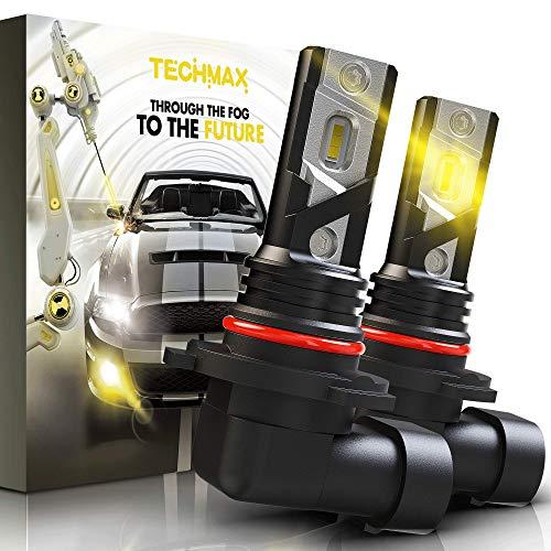 TECHMAX H10 LED Fog Light Bulbs, 9140 9145 Double-sided 1860 Lamp...
