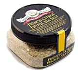 Sal del Mar Francés Citrus hinojo - Natural francés Gris sal del mar con semillas de hinojo, naranja, cilantro, pimienta blanca - gluten, MSG, No-GMO - Cocina, Acabado Sal - 113.4 g