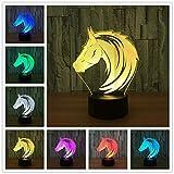 3D cheval lampe batterie externe Led Usb 3d LED veilleuse Powerbank lampes Luminaria De Mesa veilleuse 3d Lampe