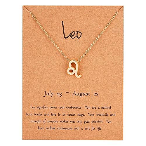 Pulsera de tobillo con signo de estrella de oro – Leo (23 de julio – 22 de agosto) – Constelación del zodiaco – Joyería de astrología celestial – Regalo para mujeres y hombres