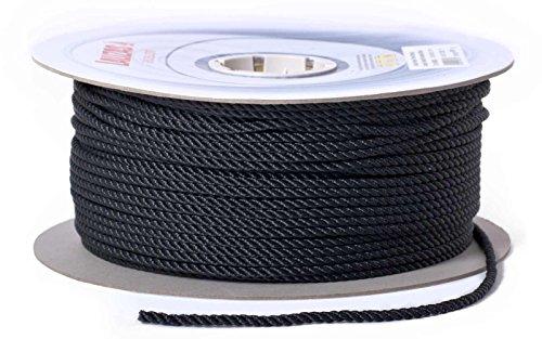 wellenshop 50 m Ankerleine schwarz Durchmesser 14 mm Tau Seil für Ankerwinden geeignet