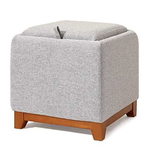 WYJW Voetkrukken Kleine Opslag Ottomaanse met Lade en Handvat, Home Cube Koffie Tafel Kruk, Hal Entryway Voet Rust Stoel (Kleur : Roze)