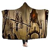 Manta con capucha, manta de manto mágico de manta para niños, siesta de manta para adultos con manta de sombrero, serie de películas de terror,10,150 * 200cm