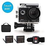 4K Touchscreen Action Kamera-YOTOPT S350 16MP Ultra HD Sport Cam WIFI Action Camera 170 ° Weitwinkel 30 Meter Unterwasserkamera Helmkamera für Motorrad Fahrrad Reiten mit 2 Verbesserten Batterien und Zubehör Kits