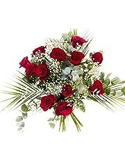 RAMO DE 12 ROSAS rojas NATURALES - ENTREGA EN 24 HORAS - Flores Frescas - Rosas Sant Jordi
