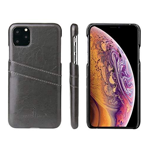 Wdckxy - Funda para iPhone 11 Pro Max (piel sintética, textura de cera al aceite), color amarillo