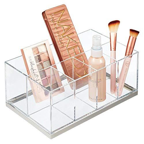 mDesign Make-up Organizer – ansteigende Make-up Aufbewahrung mit 5 Fächern aus Kunststoff –...