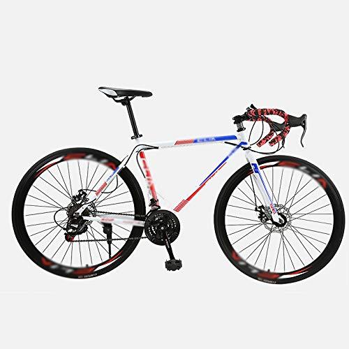 NA ZGGYA Bicicletta da Strada, Telaio in Acciaio ad Alta Carbonio, Bicicletta da 26 Pollici da 26 Pollici, Bici da Uomo, Dual Disc Brakes Bycles Hybrid