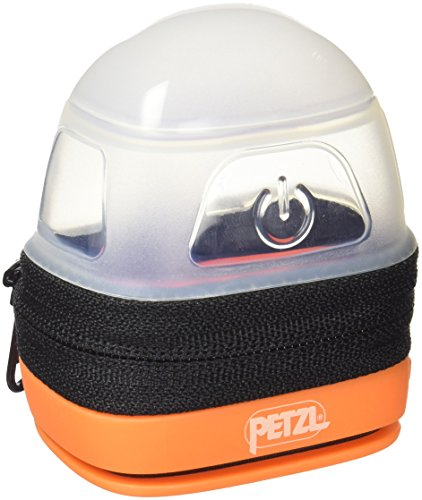 Petzl Erwachsene Noctilight Stirnlampe Schutzhülle, One Size, Schwarz / Orange