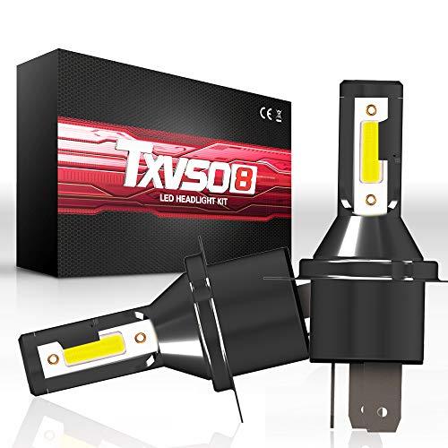 TXVSO 110W 12000LM H4/9003 Hi/Low LED autokoplampenset, 6000 K witte lampen, geschikt voor alle H4/9003 auto, 55 W/lamp, 2 stuks/set