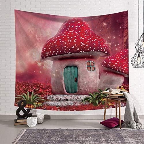 WERT Tela de Paisaje Pastoral, Tela de Fondo de decoración del hogar, Tapiz de Dibujos Animados, Tapiz de decoración de Tela para el hogar A2 150x200cm