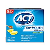 ACT Dry Mouth Lozenges, Honey-lemon, 36 Count, 36 count
