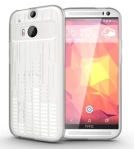 TUDIA Clef TPU Bumper Protective Case for HTC One Plus (M8) (Clear)