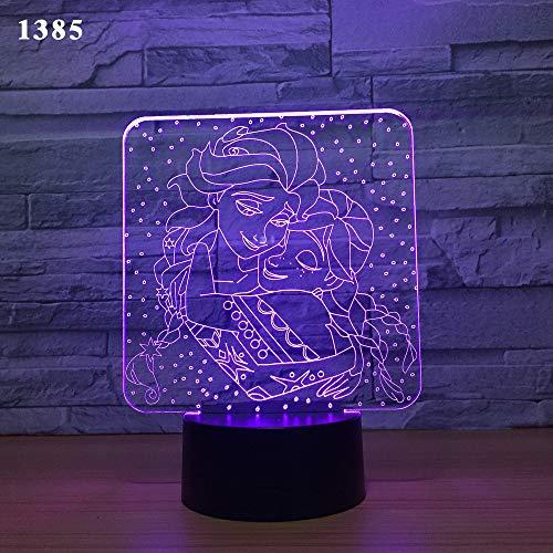 Luz de noche de 3Danimales de dibujos animados Lámpara de ilusión 3D Multicolor con control remoto para sala de estar Bar Habitación Juguetes de regalo Regalo perfectos para niño