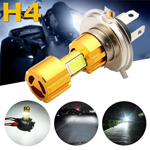 H4 LED Bulbo de los faros de la motocicleta 12V 18W universal DC COB Bombilla de l/ámpara