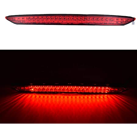 HonsCreat 1PCS Red Light Red Lens Trunk 3rd Third Brake Stop Light Rear Lamp Assembly for BMW E85 Z4 2003-2008 Replaces 63256917378