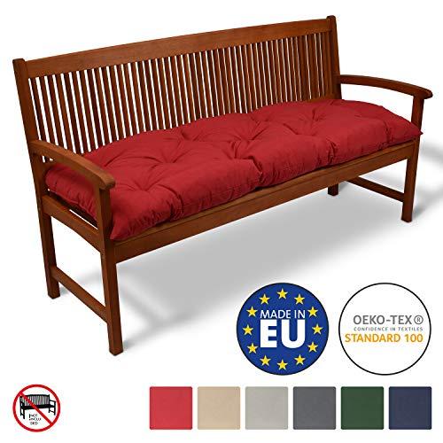 Beautissu Bankauflage Flair BK ca.150x50x10 cm Bequeme Polster Garten-Bank Auflage Sitzauflage Bank in Rot erhältlich