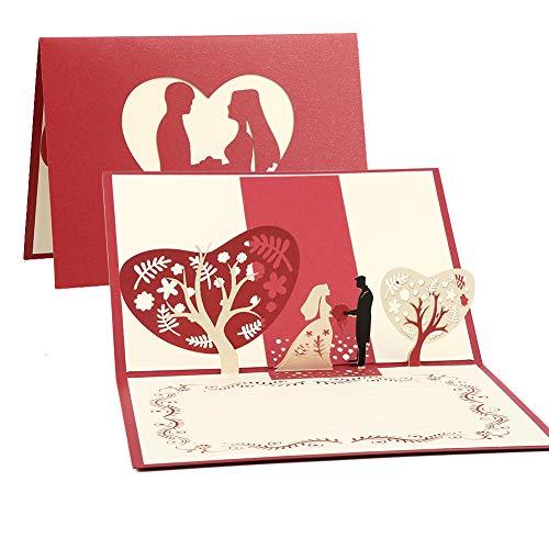 Tarjeta 3D, Pop-up Tarjeta de Felicitación, Tarjeta de Felicitación Emergente 3D, Sobre Incluido, Tarjeta Plegable para Cumpleaños/Navidad/Aniversario/San Valentín/Boda/Tarjetas de Felicitación