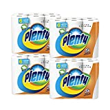 PLENTY Paper Towels, Ultra Premium, 24 Rolls, White, 2-PLY, Full Sheet, 4 Packs of 6 (1 Case)