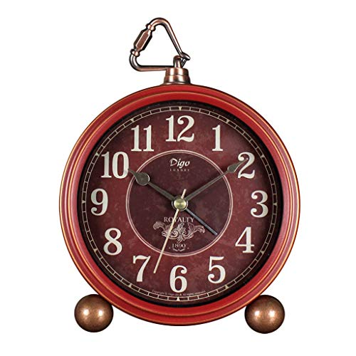 Alarm Clock Amerikaanse Retro Tafelklok Slaapkamer Nachtlampjes Silent elektronische klok huiskamer keuken Romeinse cijfers Decoration Wall Clock Stil Ontwerp