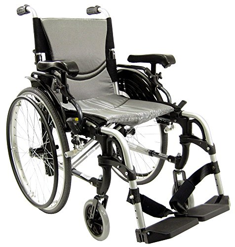 Karman 29 pounds S-305 Ergonomic Wheelchair 18' Pearl Silver
