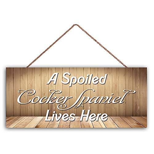 No Branded Rustikales Holzplanken-Design zum Aufhängen, dekoratives Holzschild, rustikale Wandkunst, Tafel 'A Spoiled...