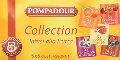 Pompadour - Infusione per Bevande Calde, Infusi alla Frutta, 5 Gusti Assortiti - 25 filtri - [confezione da 3]
