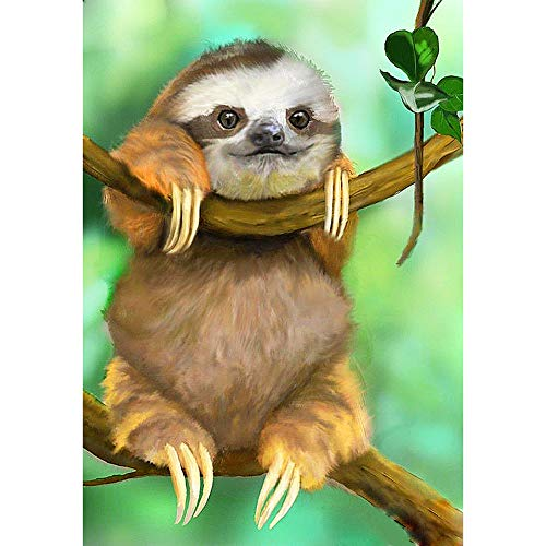 DIY 5D Diamond Painting by Number Kits,Diamond Embroidery Paintings Arts Craft for Home Wall Decor,Full Drill Sloth 11.8X15.7in 1 Pack by Bemall¡