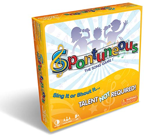 Spontuneous - The Song Game - Sing It or Shout It Game Word Board Games