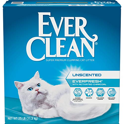 Fresh Step Ever Clean EverFresh Cat Litter with Activated Charcoal