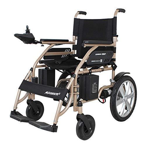 HAOT Elektrisch angetriebener Rollstuhl Leicht 34,5 kg Tragbarer zusammenklappbarer Hochleistungs-Mobilitätsroller, motorisierter Rollstuhl, Sitzbreite 45 cm Transport