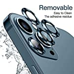 """Hoerrye For Iphone 12 Pro Max Camera Lens Protector, Metal Full Cover + Tempered Glass Circle Screen Protection For Iphone 6.7"""" – Pacific Blue"""