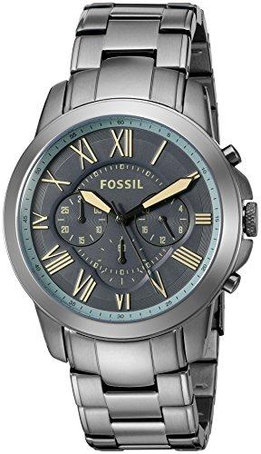 Relógio masculino Fossil FS5185 Grant cronógrafo bronze aço inoxidável