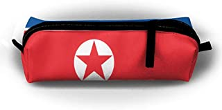 sport outdoor 003 HTSS Flag Of North Korea Pencil-box Pouch Pencil Holders Pencil Pen Casewith Zipper Stationery Bag Sewing Kit