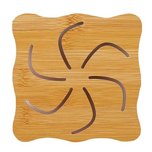 JIFNCR Einfache Speisen Tischset Isolierauflagen Cartoon Tier Muster Tischset Matte Gegen Heiße Untersetzer Tasse Pads Küchenzubehör, Windmühle