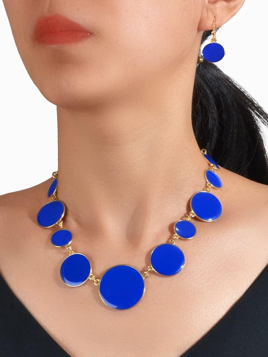 LND Gifts Jewelry Sets 3pcs Round Color Sale price discount Blu Set : Decor