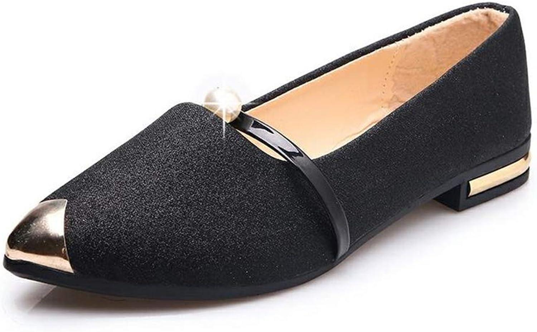 YUHJ Women's Flat Single shoes Women's shoes Breathable Trend Mother shoes