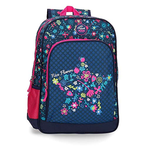 Mochila 42cm adaptable a carro Movom Nice Flowers